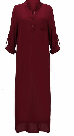 Casual Dress Ladies Long Sleeve Dress