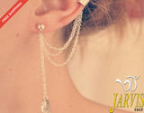 Tassel Dangle Ear Cuff Wrap Earring