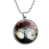 Glowing Tree of Life Pendant Necklace