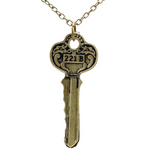 Detective Sherlock Holmes The Key to 221B Necklace
