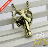 Apocalypse Gas Mask Pendant Necklace