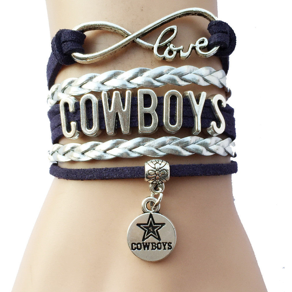 Infinity Love Dallas Cowboys Team Bracelets