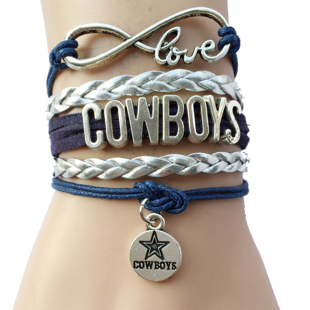 Infinity Love Dallas Cowboys Bracelets- Drop Shipping