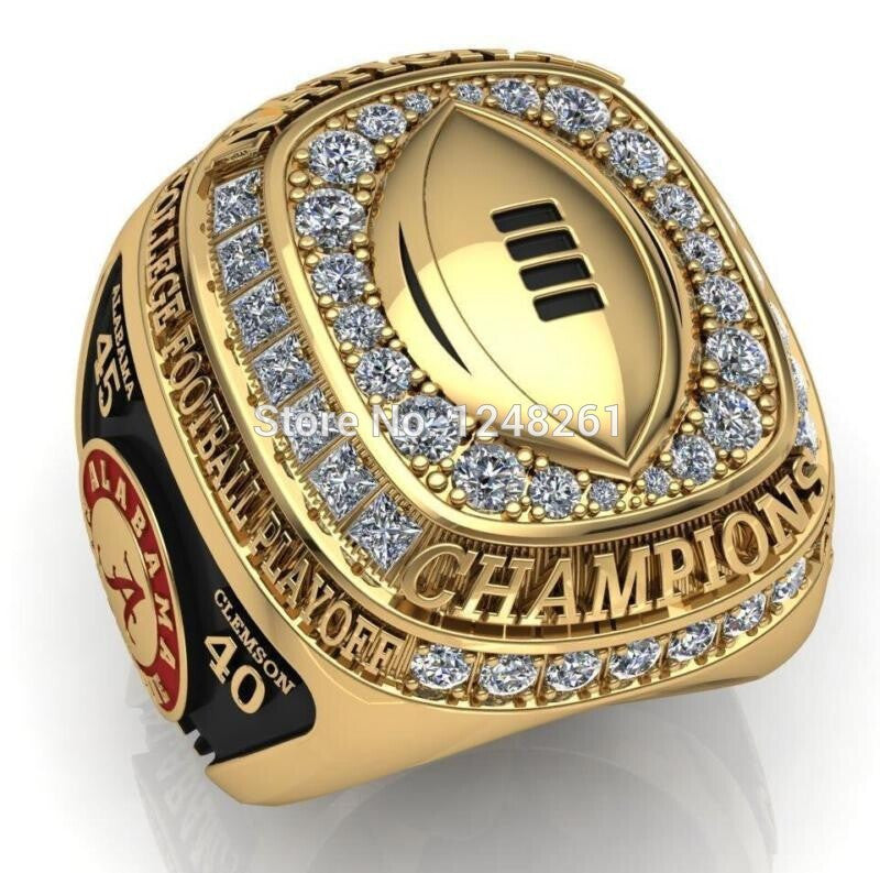 Free Shipping Fashion New Nick Alabama Crimson Tide National Championship Rings