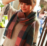 2014 Autumn and Winter Wool Fashion Leisure Scarf Men and Women Couple Section of Thick Plaid Scarf Shawl Long