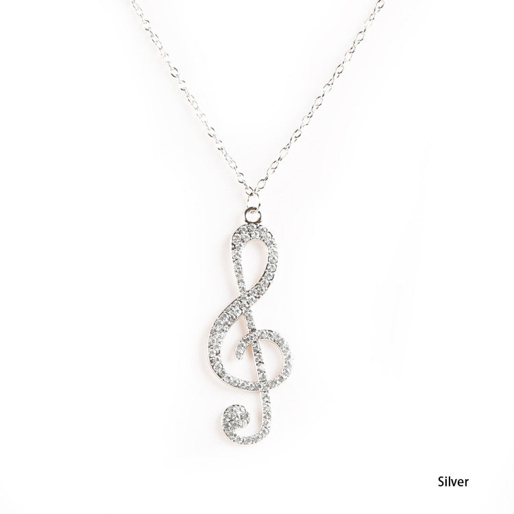 ***FREE SHIPPING*** Music Note Pendant Chain Necklace
