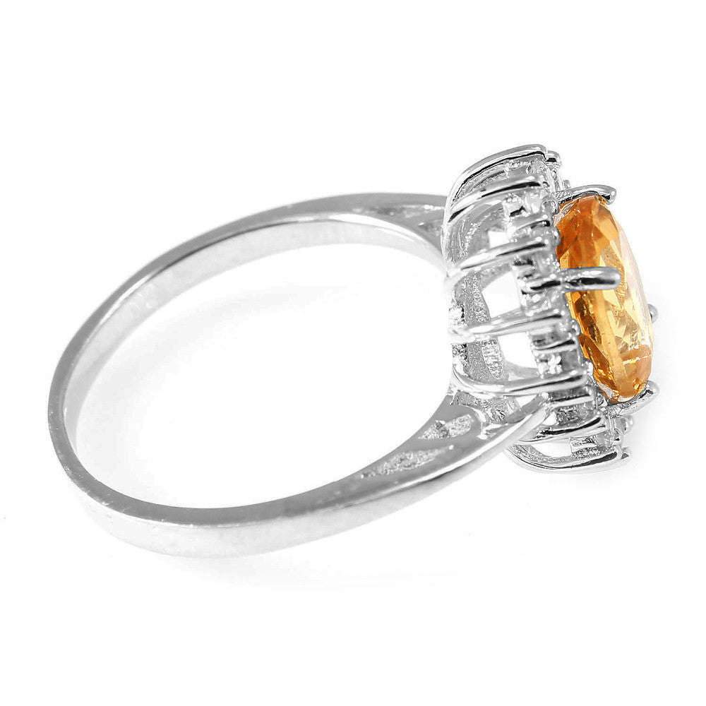 Citrine Ring 925 Sterling Silver 2015 ------> Free Shipping<------