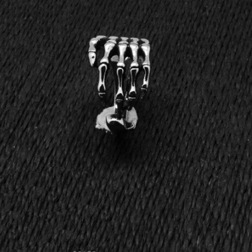 Unique Skeleton Finger Rings Black Silver
