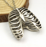 Anatomical Human Rib Cage Anatomy Pendants Vintage Necklace
