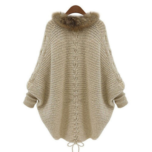 Winter Fur Collar Sweater