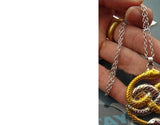 Two Snake Gold Silver Mixed Necklace
