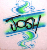 Airbrushed name & custom T shirt by Airbrush Apparel