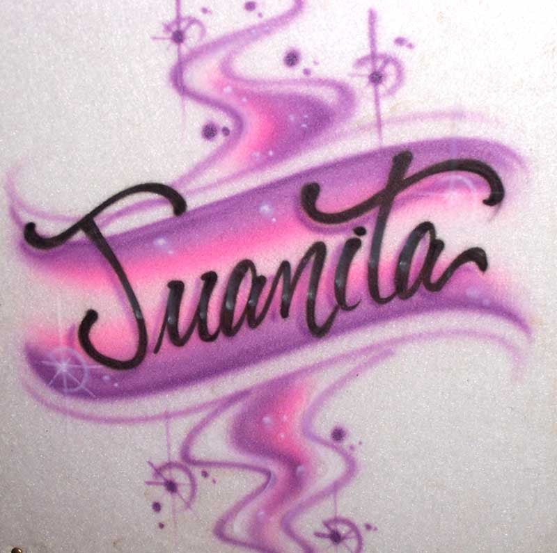 Fancy Script Airbrush T shirt