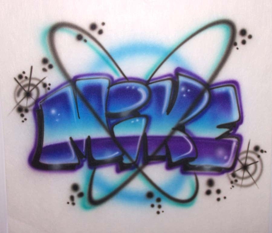 Graffiti block airbrushed name design