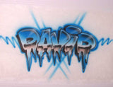 Airbrushed Frozen Name and Ice Custom T-Shirt or Sweatshirt