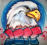 Eagle and name airbrushed shirt design