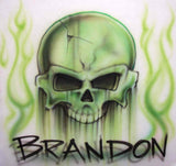 Custom airbrushed skull design for tees, sweats, & more