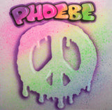 Peace sign airbrush name t shirt