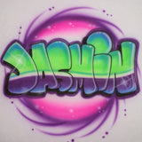 Airbrush bubble neon personalized t shirt and sweatshirt