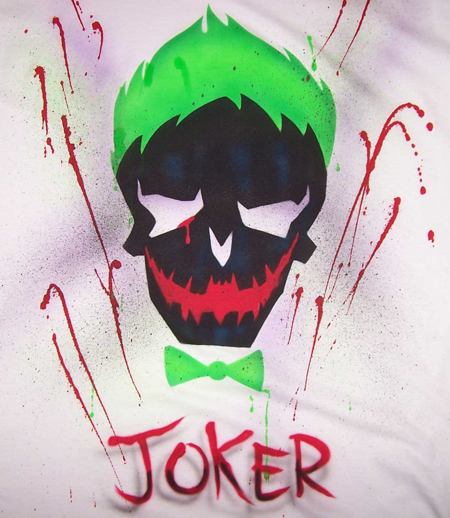 Airbrushed Suicide Squad Joker Skull Tee or Sweatshirt