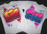 Airbrush Party Graffiti Block letters