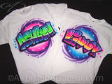 Airbrush Graffiti personalized party t-shirt