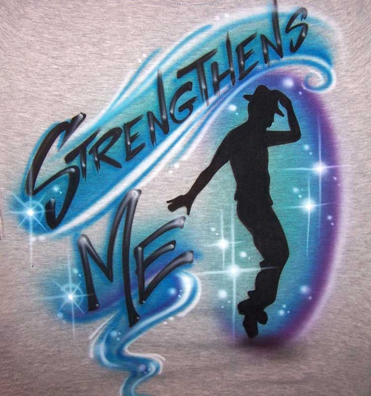 Airbrushed Jazz Tap Dancer Personalized Shirt
