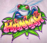 Airbrush tree frog custom personalized shirt