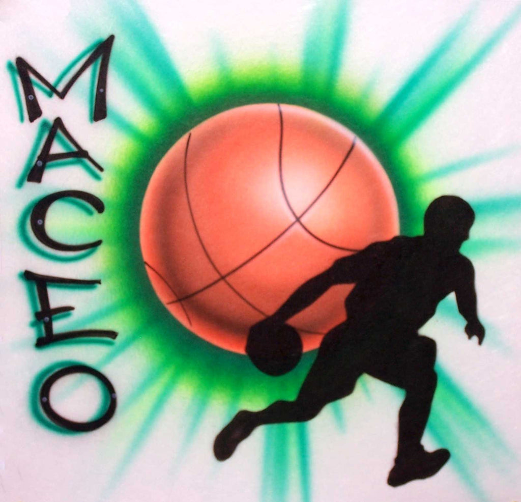 Basketball & Player Custom Airbrushed Personalized Shirt