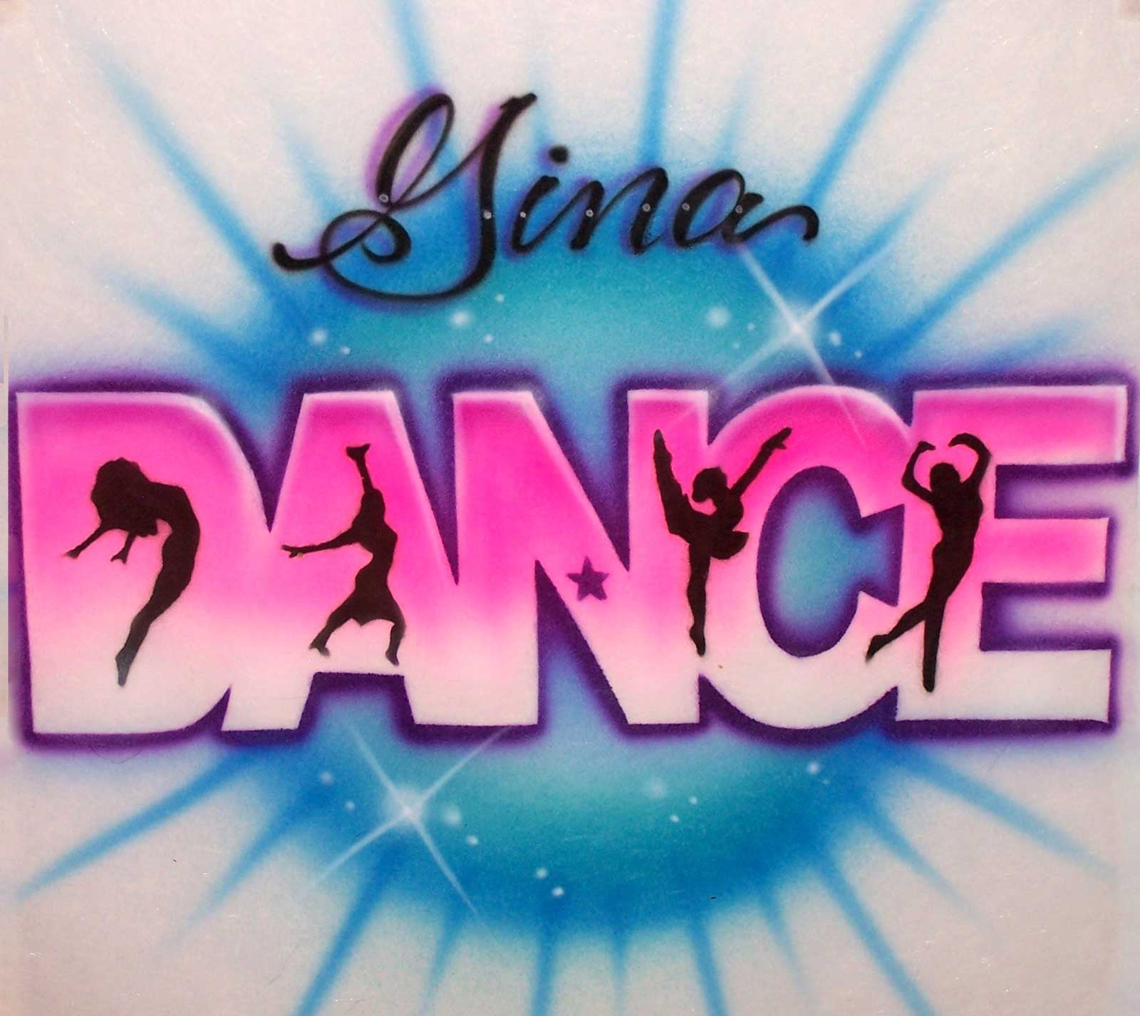 630aed266 Airbrushed Dancers Personalized Dance Tee or Sweatshirt