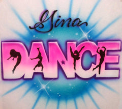 Airbrushed Dance Shirt Dancer Design