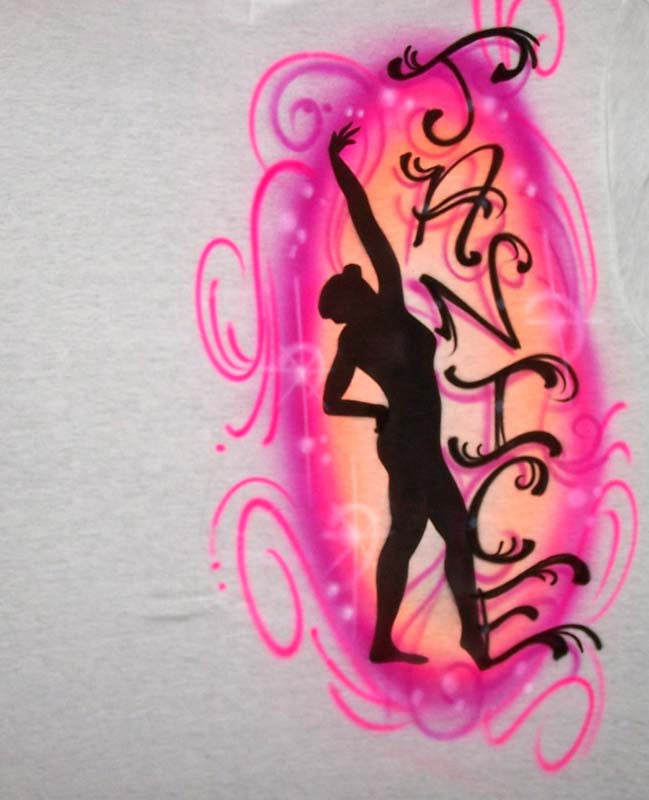 Airbrushed Dancer Silhouette Personalized T-Shirt