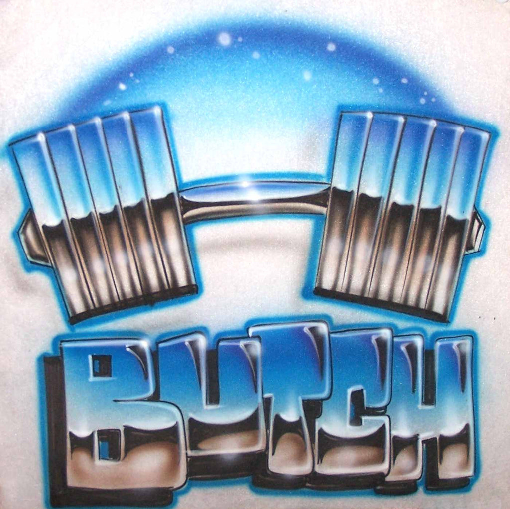Personalized Dumbbell Weight Lifting Airbrushed Shirt