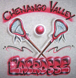 Airbrushed Lacrosse Personalized Team Shirt Design