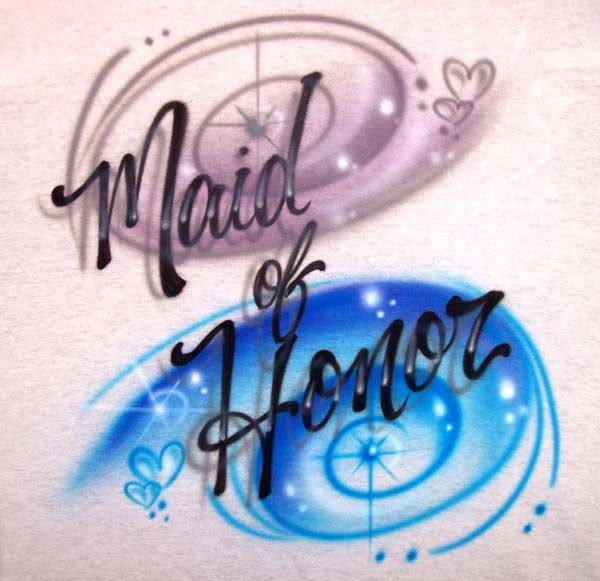 Airbrushed Bridal Party Shirts for the Bridesmaid, Maid of Honor & More