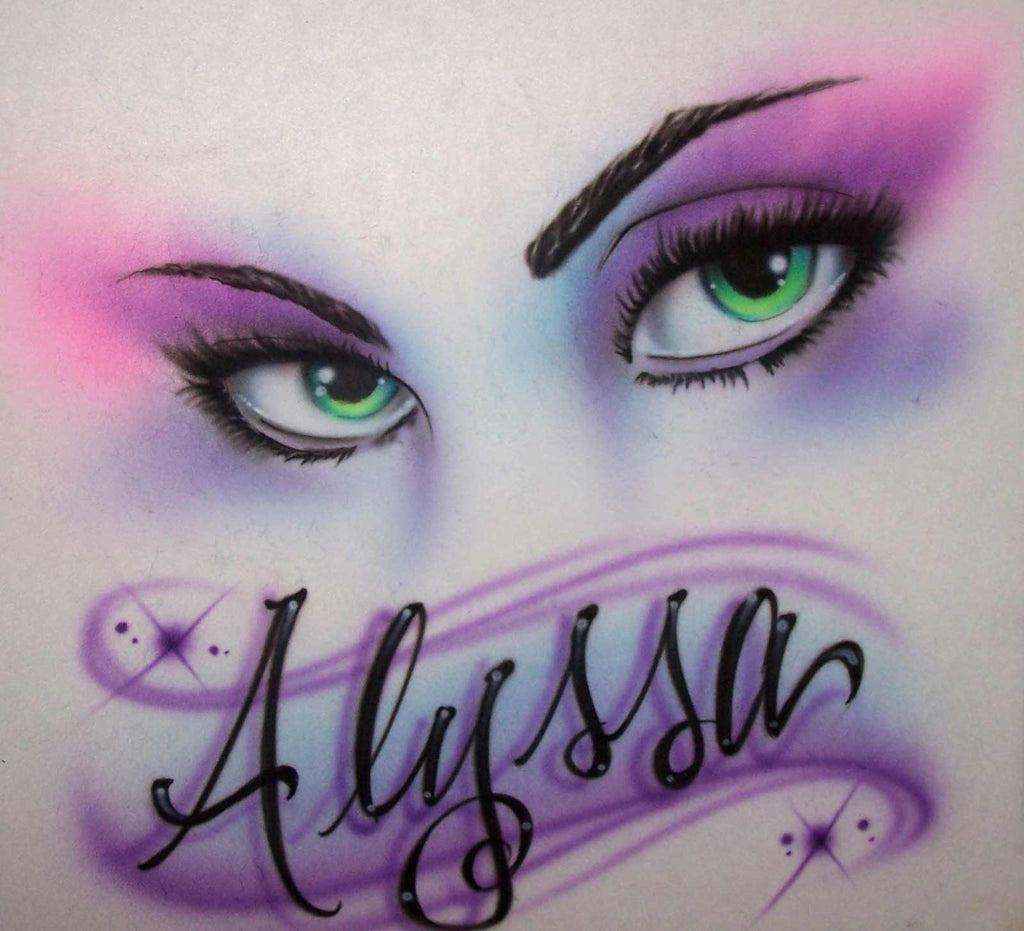 Airbrushed Sexy Eyes Personalized T-Shirt or Sweatshirt