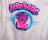 Airbrushed Soccer Player # Team Sweatshirt Back Side