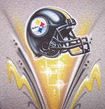 Airbrushed Steelers Football Helmet Sweatshirt