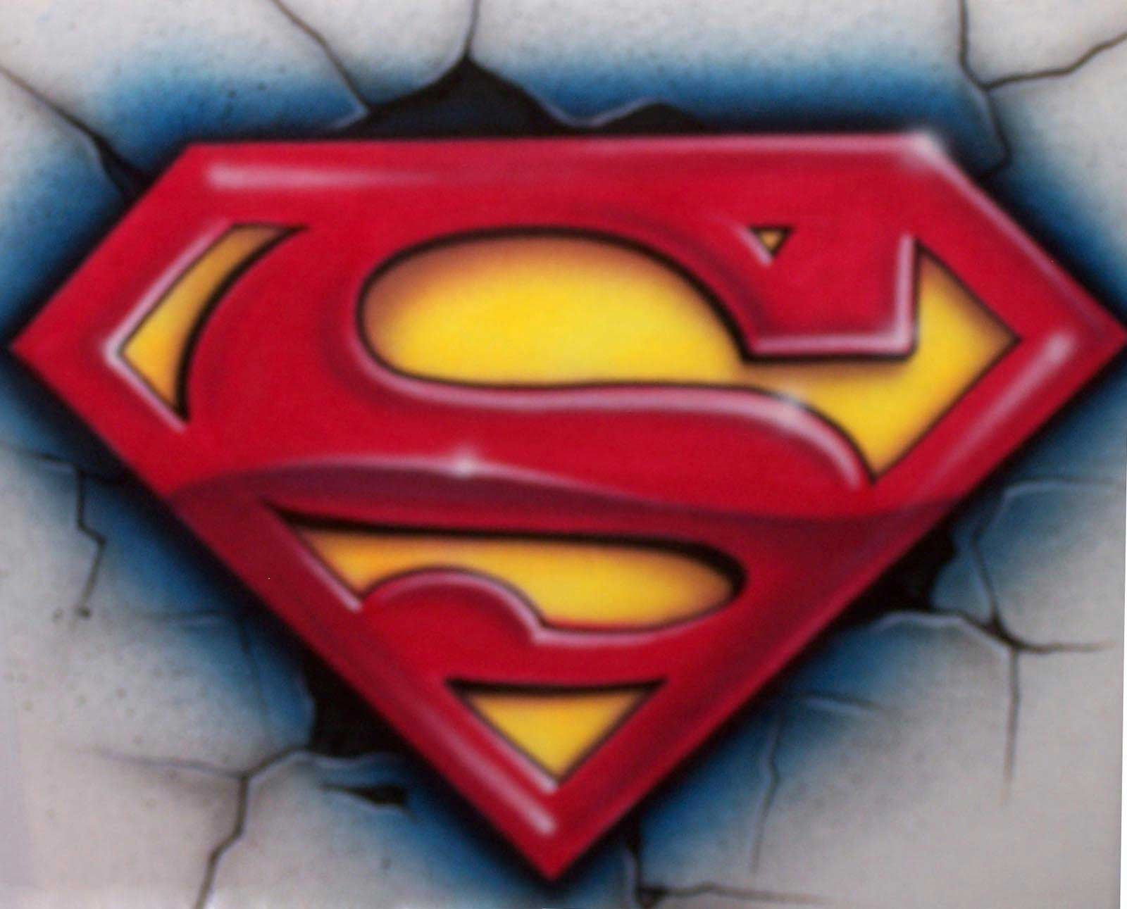 Airbrushed Superman Shirt