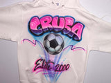 Airbrushed Team Soccer Sweatshirt