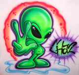 Alien Peace Airbrush Name