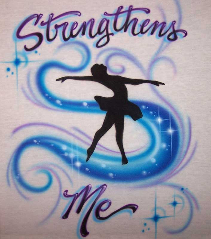 Airbrushed Ballerina Dancer Personalized Shirt