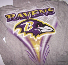 Baltimore Ravens Airbrushed Logo Custom T-Shirt Sweatshirt