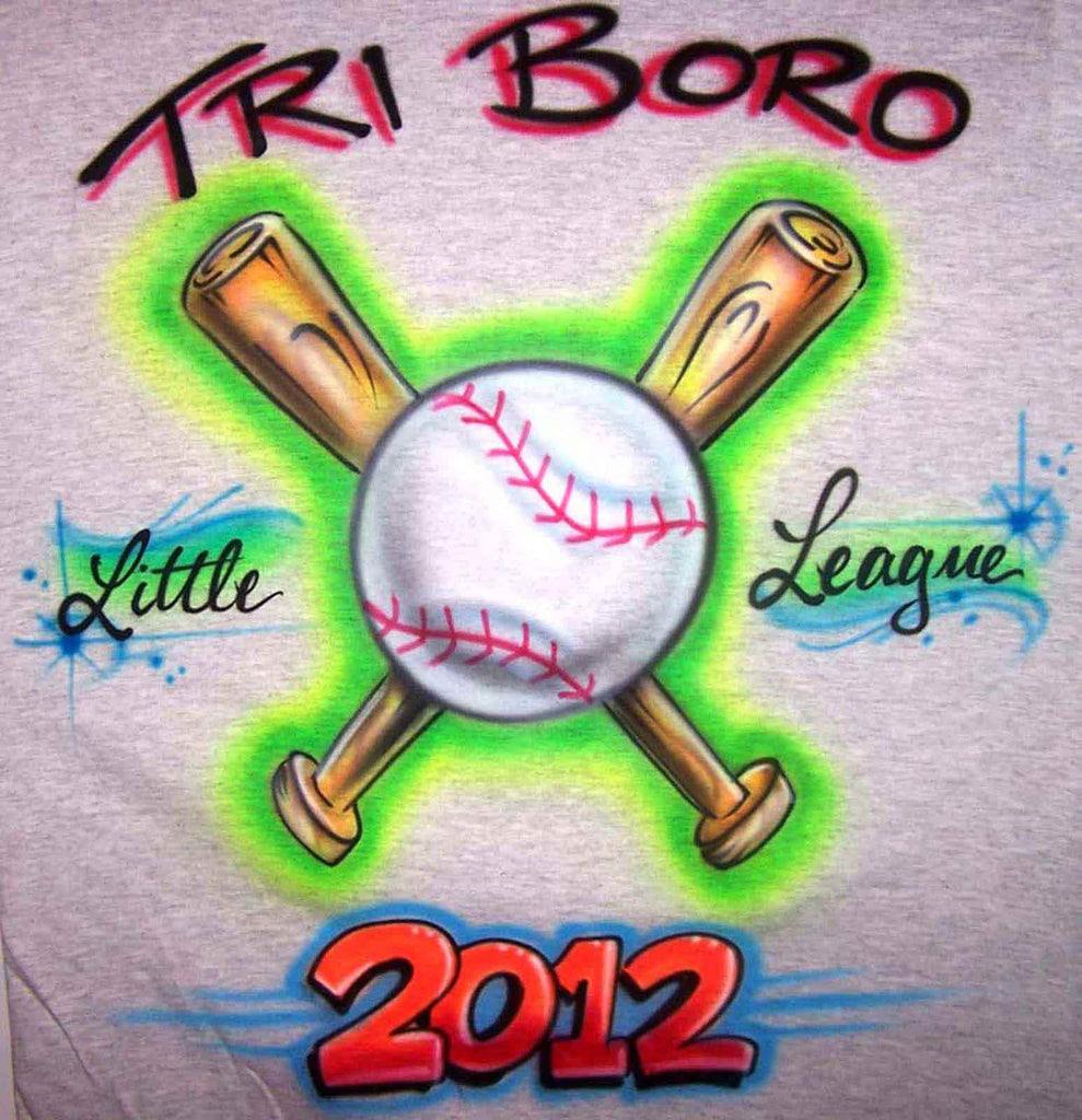 Airbrushed Baseball Event League Tournament Shirt