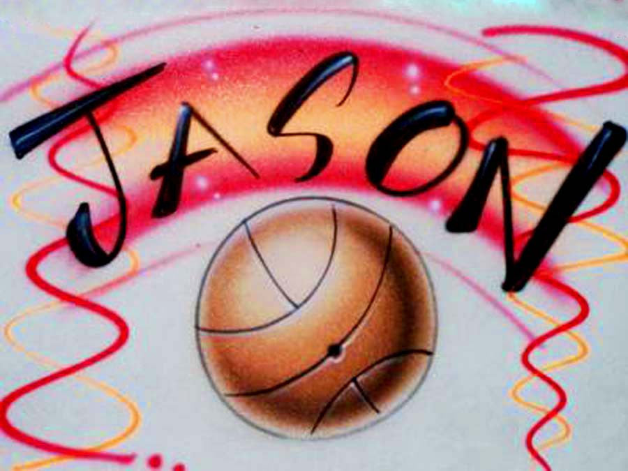 Personalized Basketball Airbrushed Shirt
