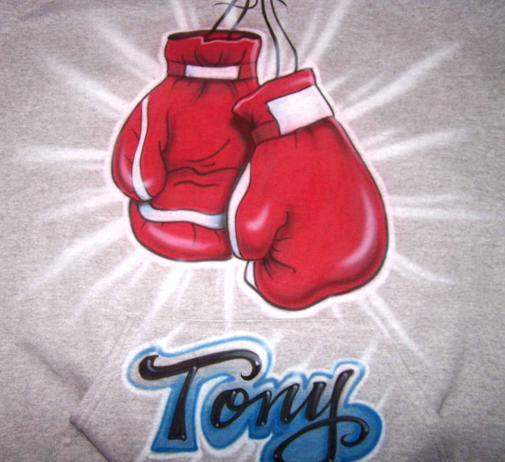 Custom Airbrushed Boxing Gloves Personalized Shirt