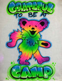Dancing Bear Camp Tie Dye Airbrush Shirt