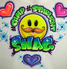 Airbrush Camp Swag Smiley Face Hearts