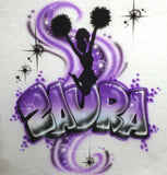 Cheerleader Custom Airbrushed Shirt Design