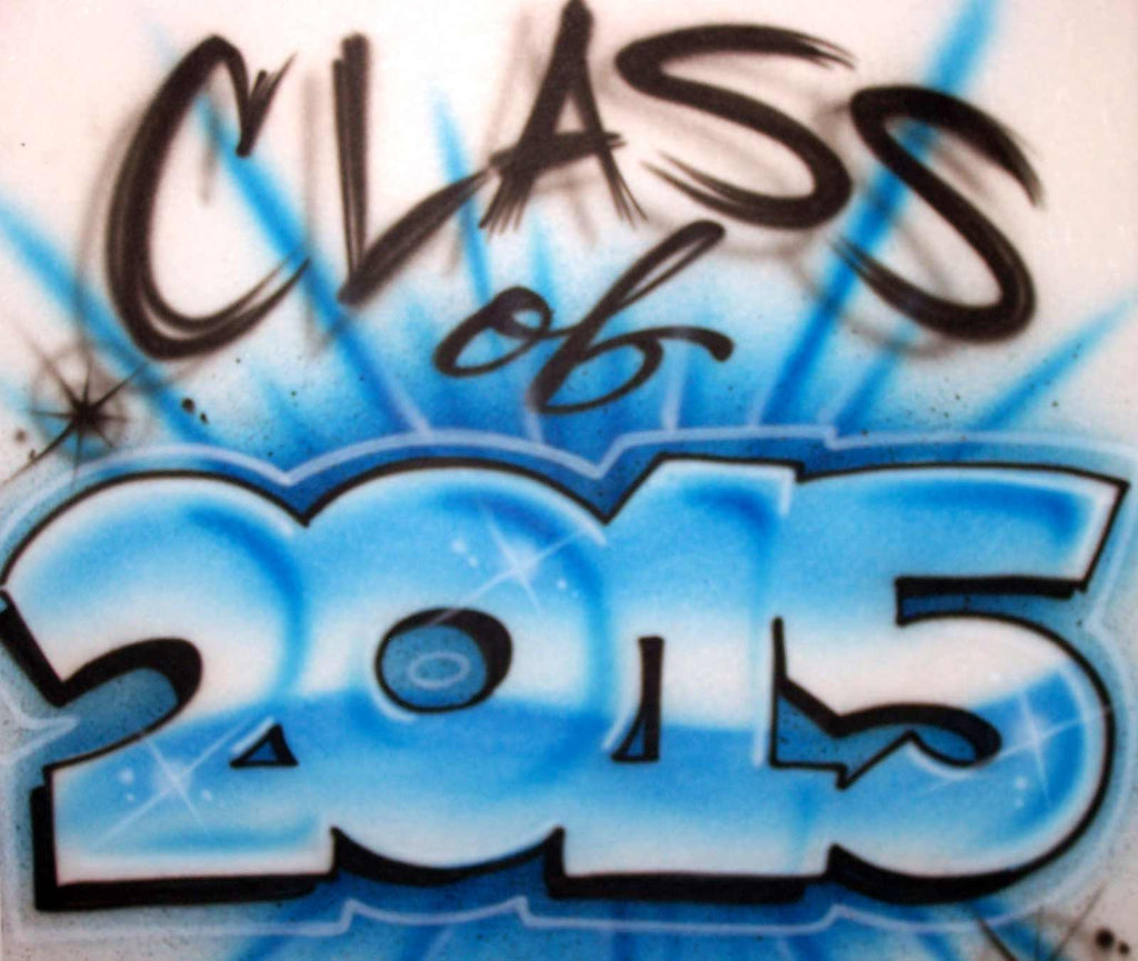 Airbrushed Class of 2017 or Any Year Graduation Design for T Shirts, Sweats, & More!
